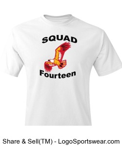 Squad fourteen graphic tee Design Zoom